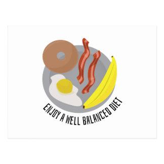 Dieta equilibrada tarjeta postal