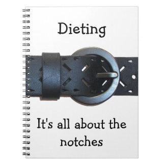 Dieta, está todo sobre el cuaderno de las muescas