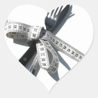 Dieta Pegatina En Forma De Corazón