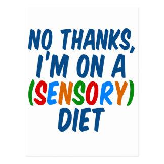 Dieta sensorial postales