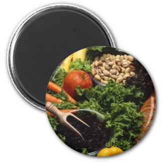 Dieta vegetariana imán redondo 5 cm