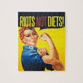 Dietas de los alborotos no - feminismo del vintage rompecabeza