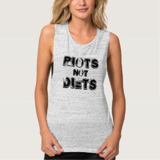 ¡dietas de los alborotos no! playera de tirantes anchos