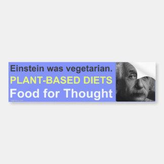 Dietas Planta-Basadas Etiqueta De Parachoque