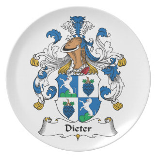 Dieter Family Crest Party Plates