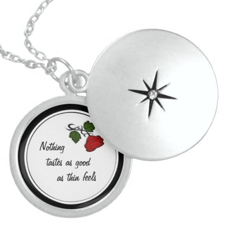 Dieters Motivational Rose 2 Locket