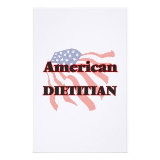 Dietético americano papelería