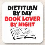 Dietético del aficionado a los libros del día por  posavasos de bebida