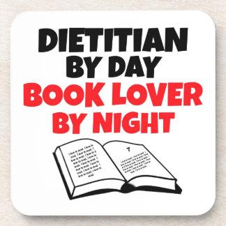 Dietético del aficionado a los libros del día por  posavasos de bebidas