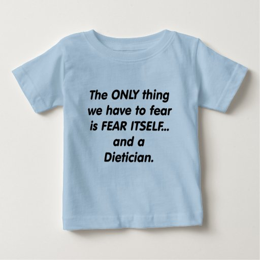 dietético del miedo playera de bebé