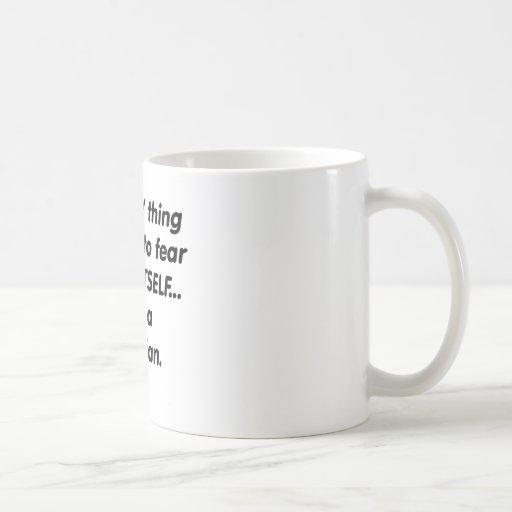 dietético del miedo tazas de café