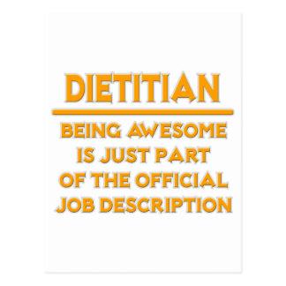 Dietético. Descripción de las funciones oficial Postal