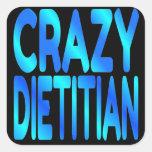 Dietético loco colcomanias cuadradas personalizadas