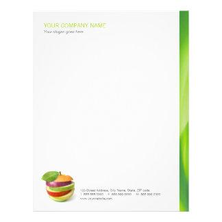 Dietético/nutricionista/papel con membrete sano de plantillas de membrete