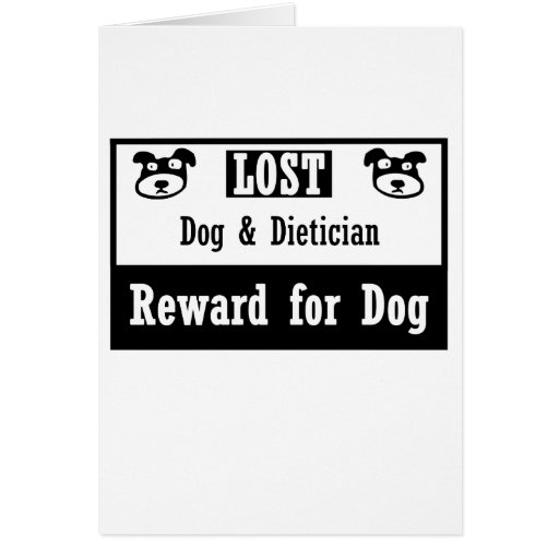 Dietético perdido del perro tarjeta pequeña