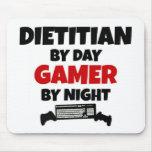 Dietético por videojugador del día por noche tapetes de ratón