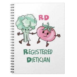 Dietético registrado cuaderno