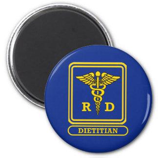 Dietético registrado imán redondo 5 cm