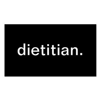 Dietético Plantillas De Tarjeta De Negocio