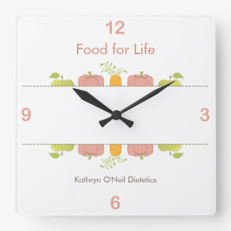 Dietician or Nutritionist Time Square Wall Clock