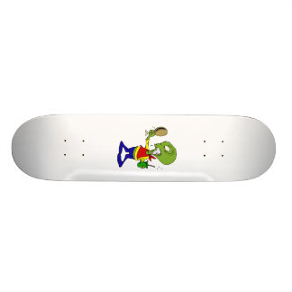 Dieting Alien with Turkey leg Skate Deck