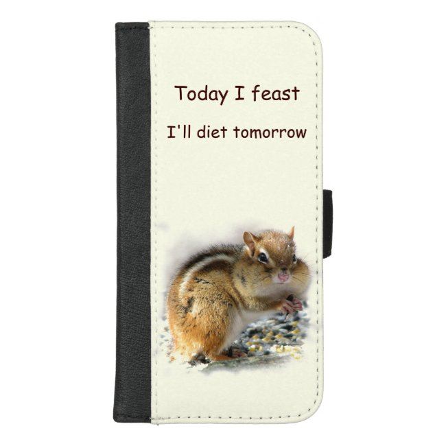 Dieting Chipmunk iPhone 8/7 Plus Wallet Case