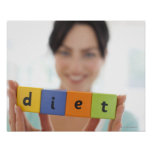 Dieting, conceptual image. poster