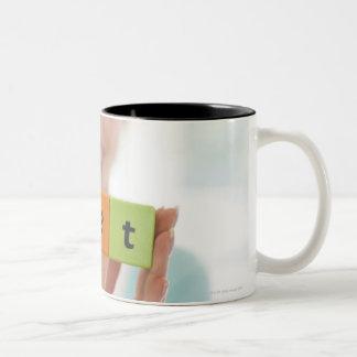 Dieting, conceptual image. Two-Tone coffee mug