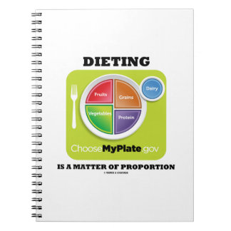 Dieting Is A Matter Of Proportion (MyPlate) Spiral Notebook