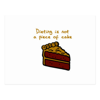 DIETING POSTCARD