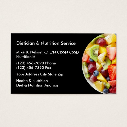 Dietitian and nutrition services business card zazzle dietitian and nutrition services business card reheart Image collections