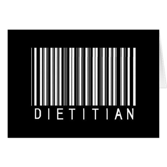 Dietitian Bar Code Card