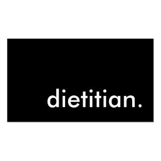 dietitian. business card