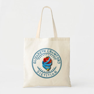 Dietitian Dietologist Doctor With Measuring Tape Tote Bag