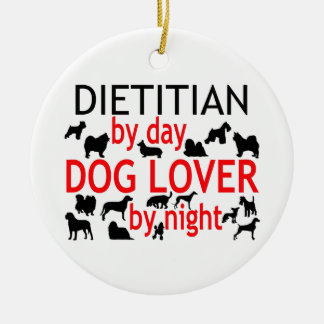 Dietitian Dog Lover Double-Sided Ceramic Round Christmas Ornament