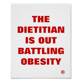 Dietitian is Out Battling Obesity Print