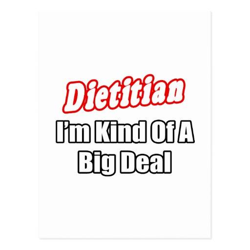 Dietitian...Kind of a Big Deal Postcard