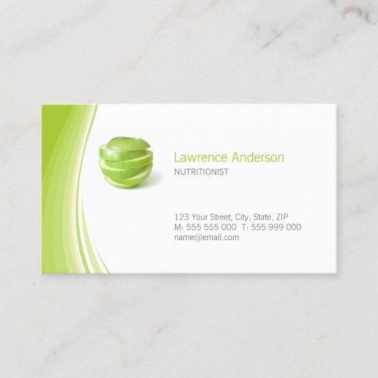 Dietitian Nutritionist Business Card Zazzle Com