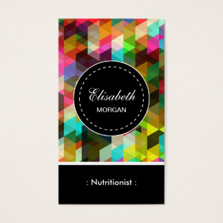 Dietitian Nutritionist- Colorful Mosaic Pattern Business Card