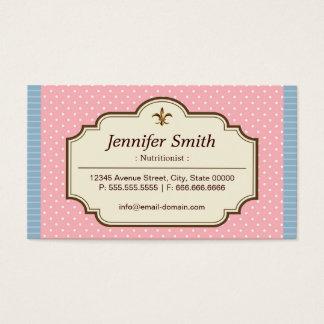 Dietitian Nutritionist - Cute Polka Dots Business Card