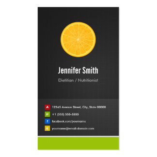 Dietitian / Nutritionist Diet Creative Innovative Double-Sided Standard Business Cards (Pack Of 100)