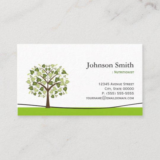 Dietitian nutritionist elegant wish tree business card zazzle dietitian nutritionist elegant wish tree business card colourmoves