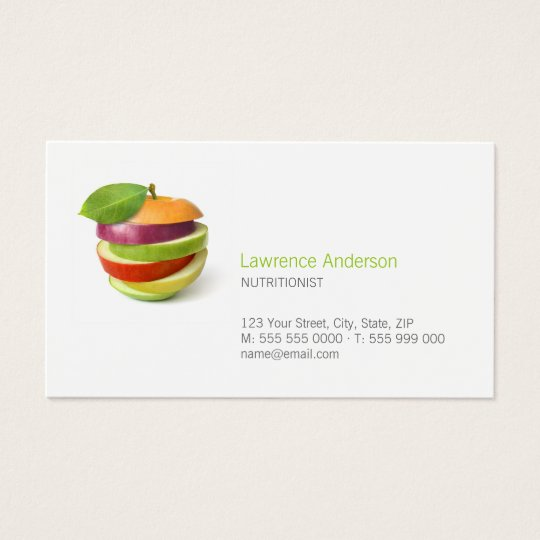 Dietitian nutritionist food business card zazzle dietitian nutritionist food business card reheart Image collections