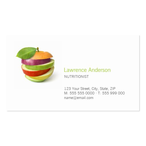 Dietitian / Nutritionist / Food business card