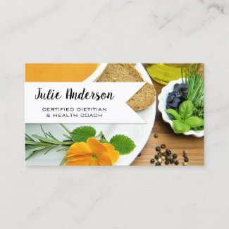 Dietitian Nutritionist Health Coach Business Card
