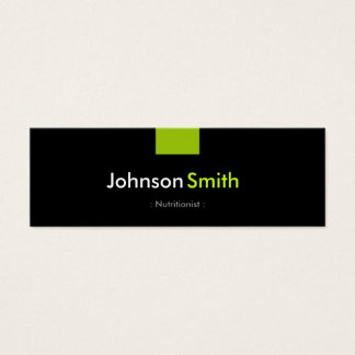 Dietitian Nutritionist - Mint Green Compact Mini Business Card