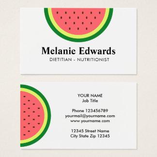 Dietitian nutritionist watermelon business cards