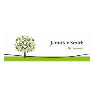 Dietitian Nutritionist - Wishing Tree of Hearts Mini Business Card