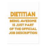Dietitian .. Official Job Description Postcard