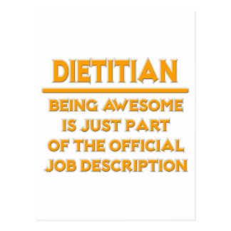 Dietitian .. Official Job Description Postcard